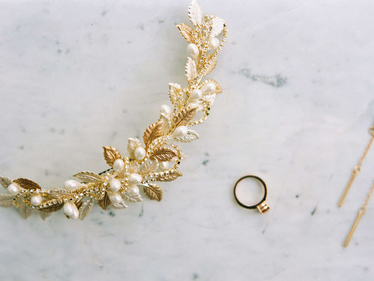 wedding ring photographed on marble in Adelaide
