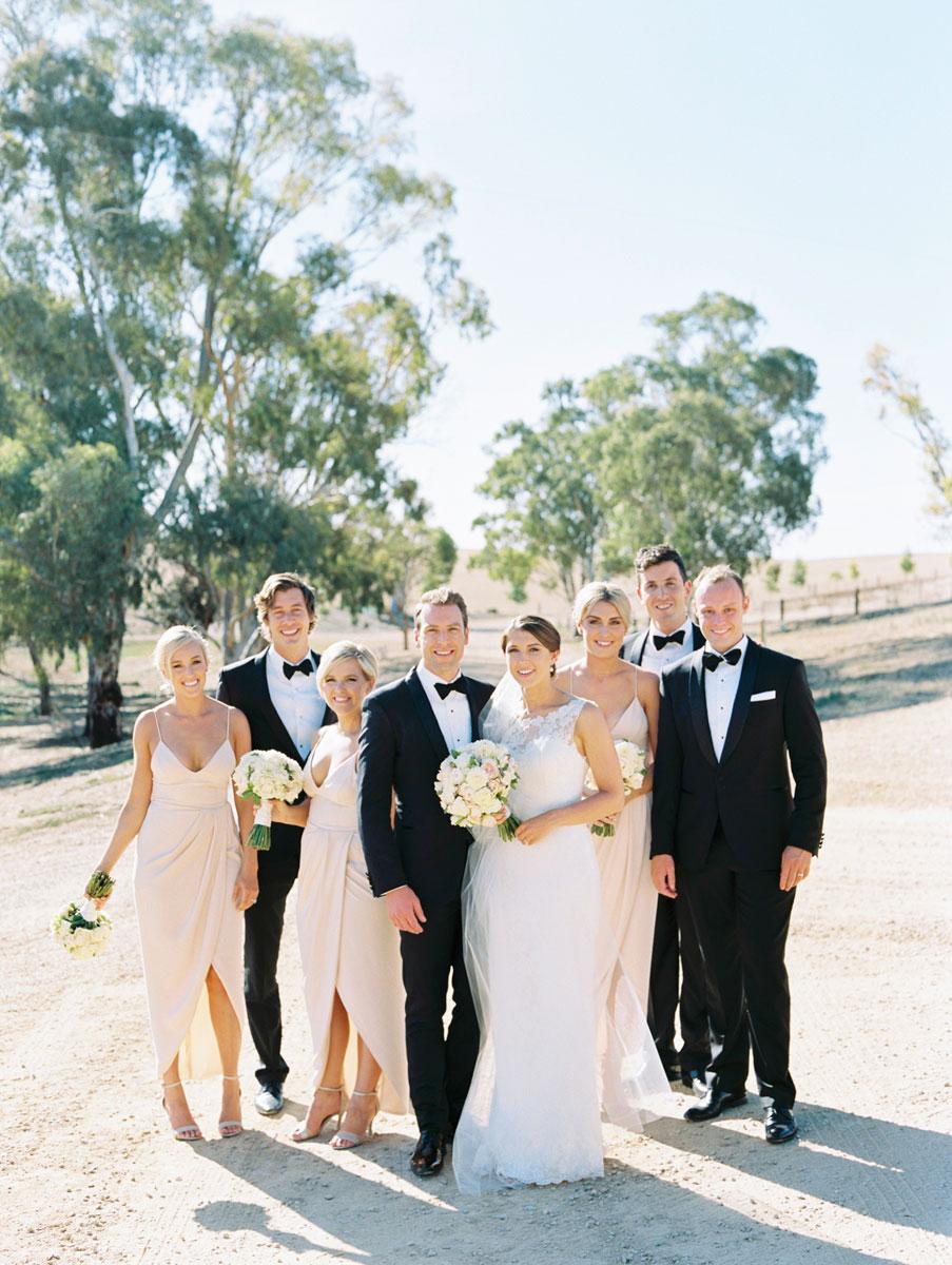Kingsford Homestead Wedding Bridal Party Black Tie Wedding