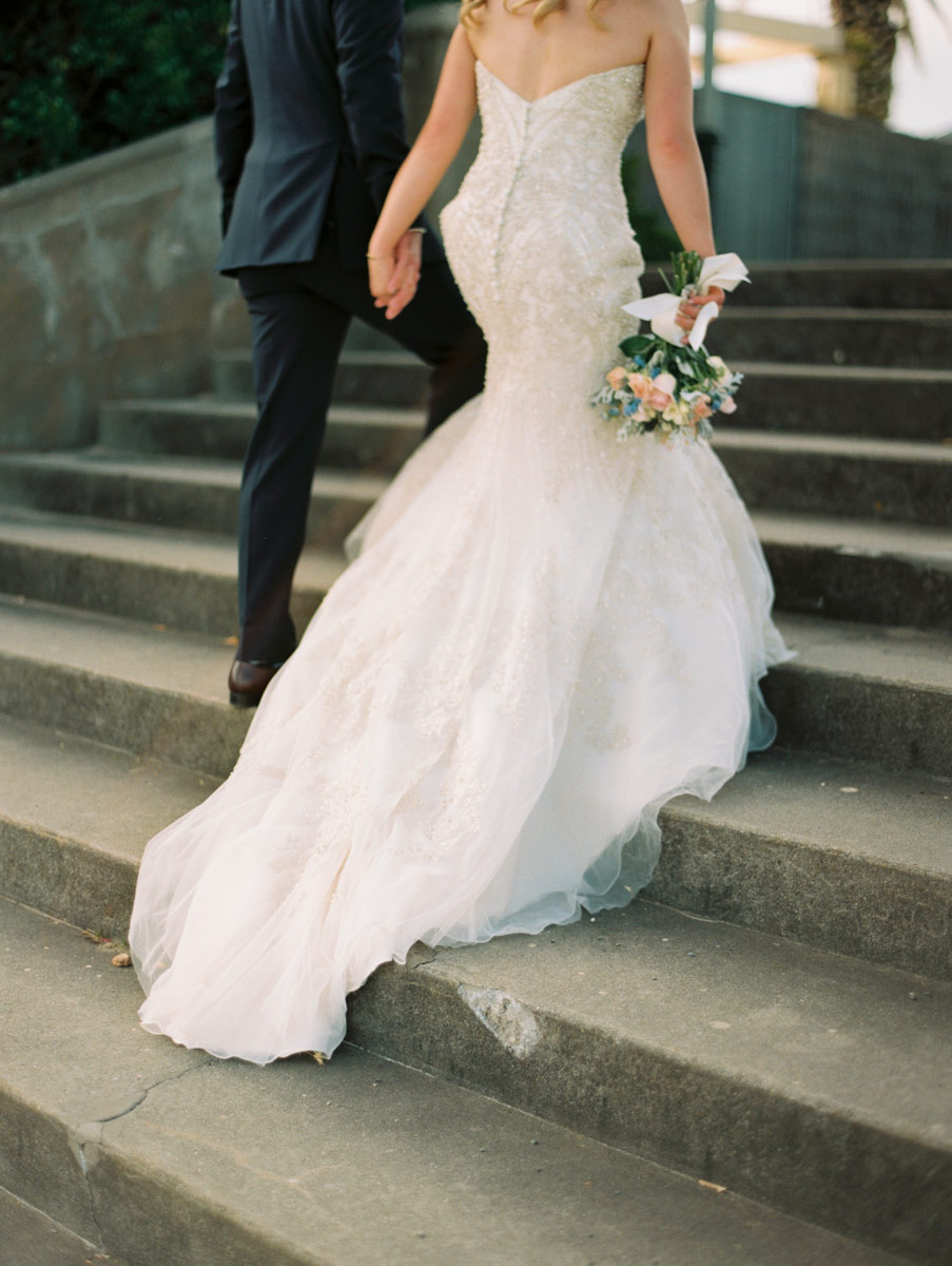 French lace fish tail wedding dress Adelaide