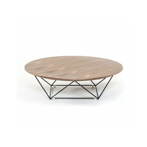 round wood top chrome base modern coffee table coastal sleek calling it home.png
