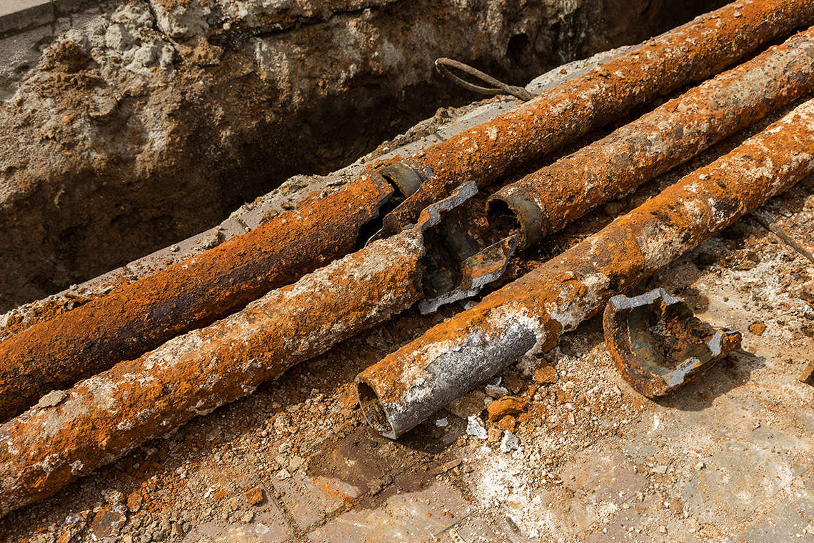 Cast Iron Pipes are vulnerable to corrosion and eventually break