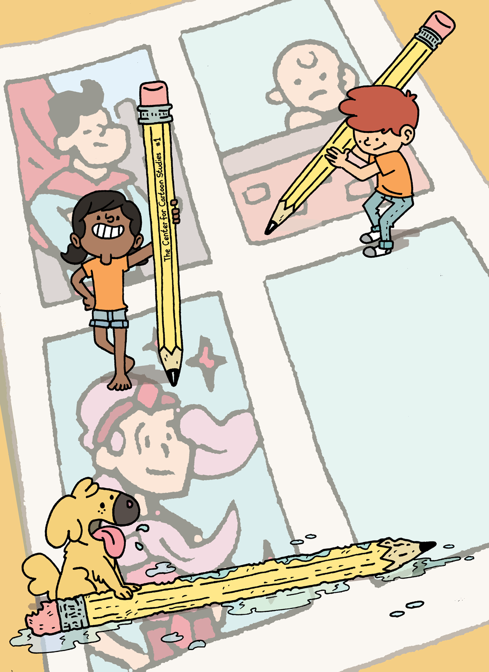 Poster, The Center for Cartoon Studies Kids Cartoon Club