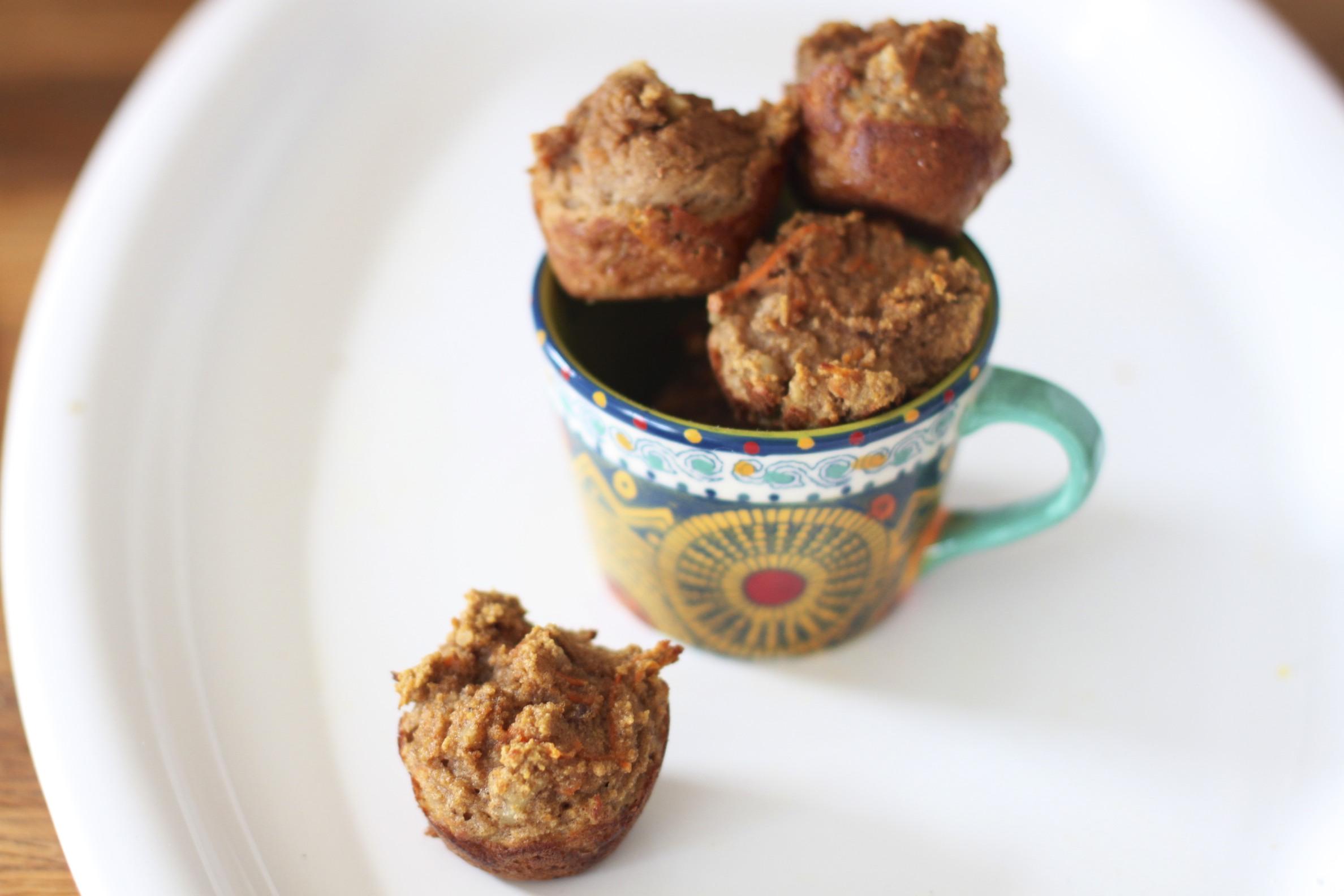 mini carrot spice muffins (grain-free)