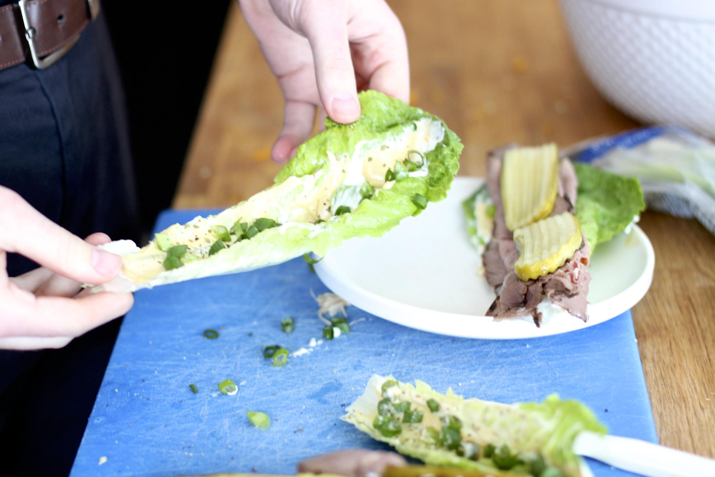 ultimate roast beef sandwich (bunless)