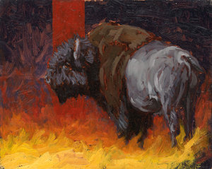 Yellowstone Fire Bison (Sold)