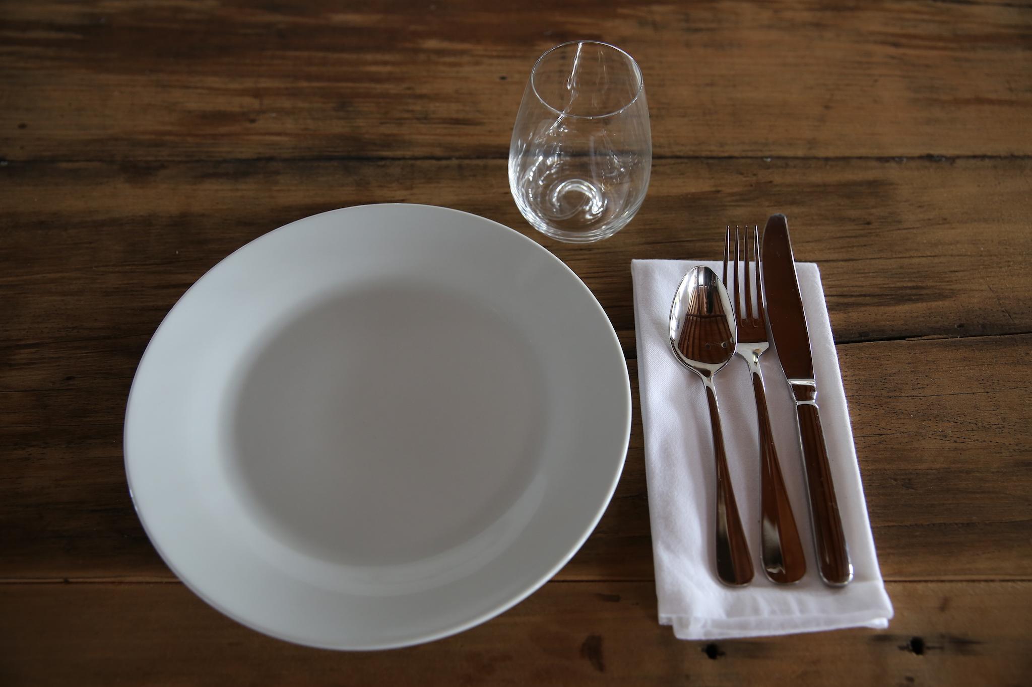 Table settings. -