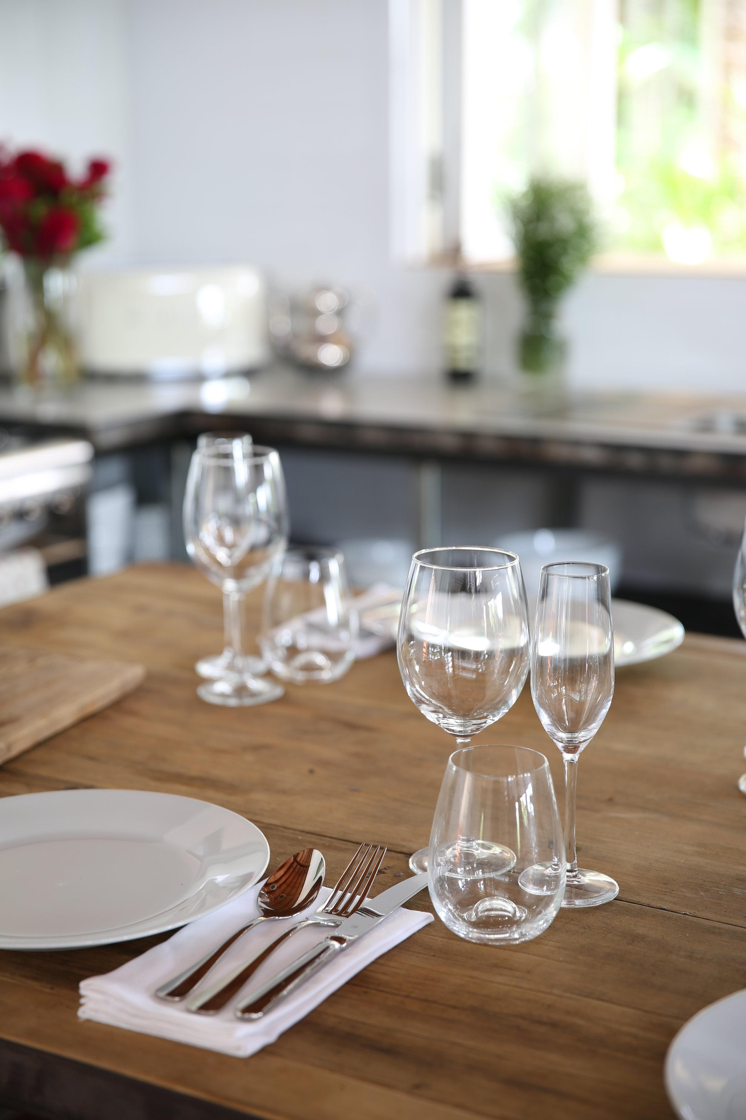 Wine Glass, Stemless Wine Glass, Champagne Flute. -