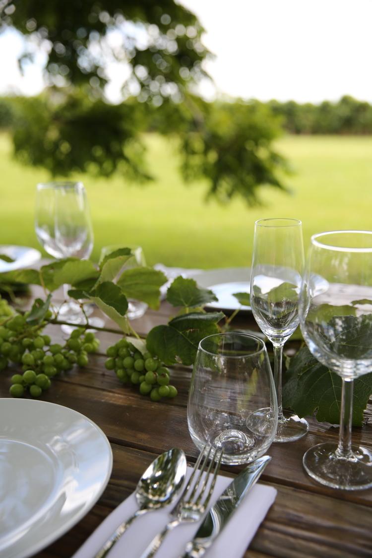 Champagne flute, wine glass, stemless wine glass. -