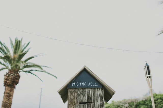 Timber wishing well. -