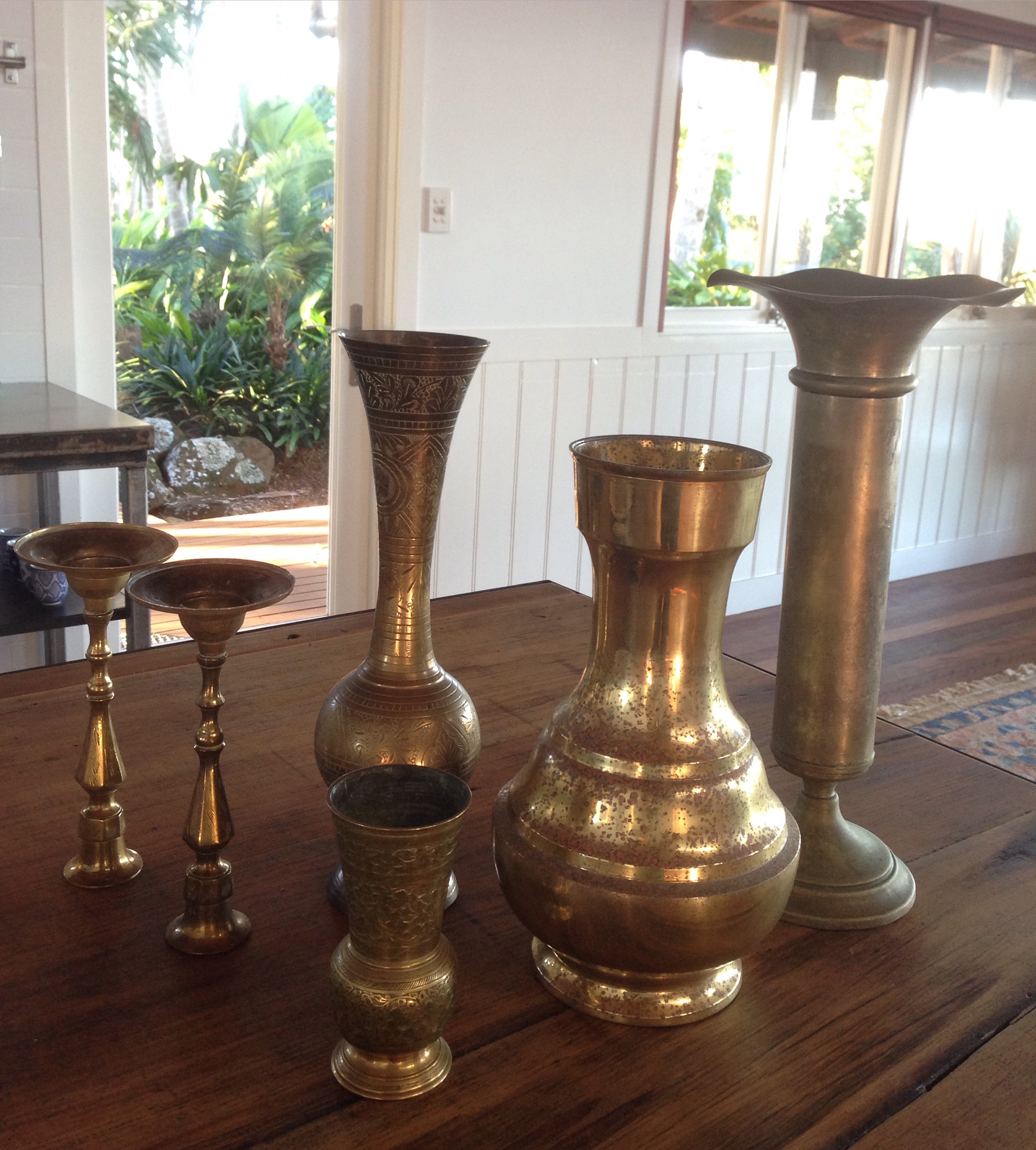 Brass Vessels (six piece).  - Qty 1. $35