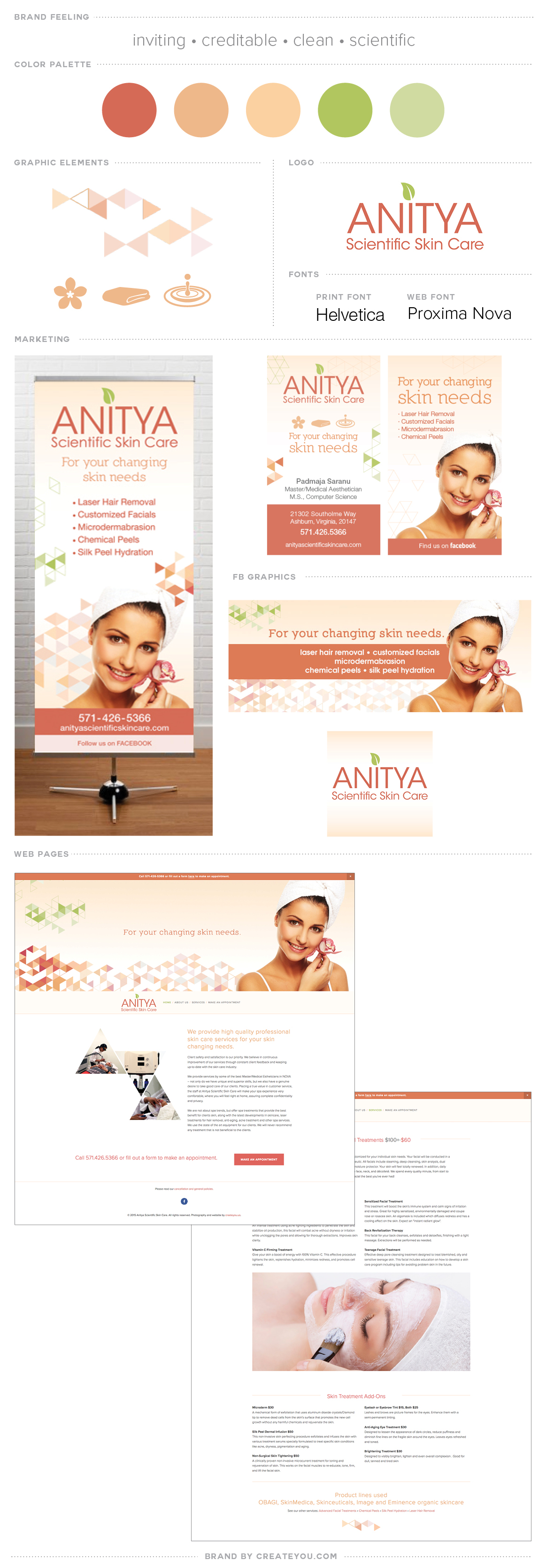 anitya scientific skincare branding