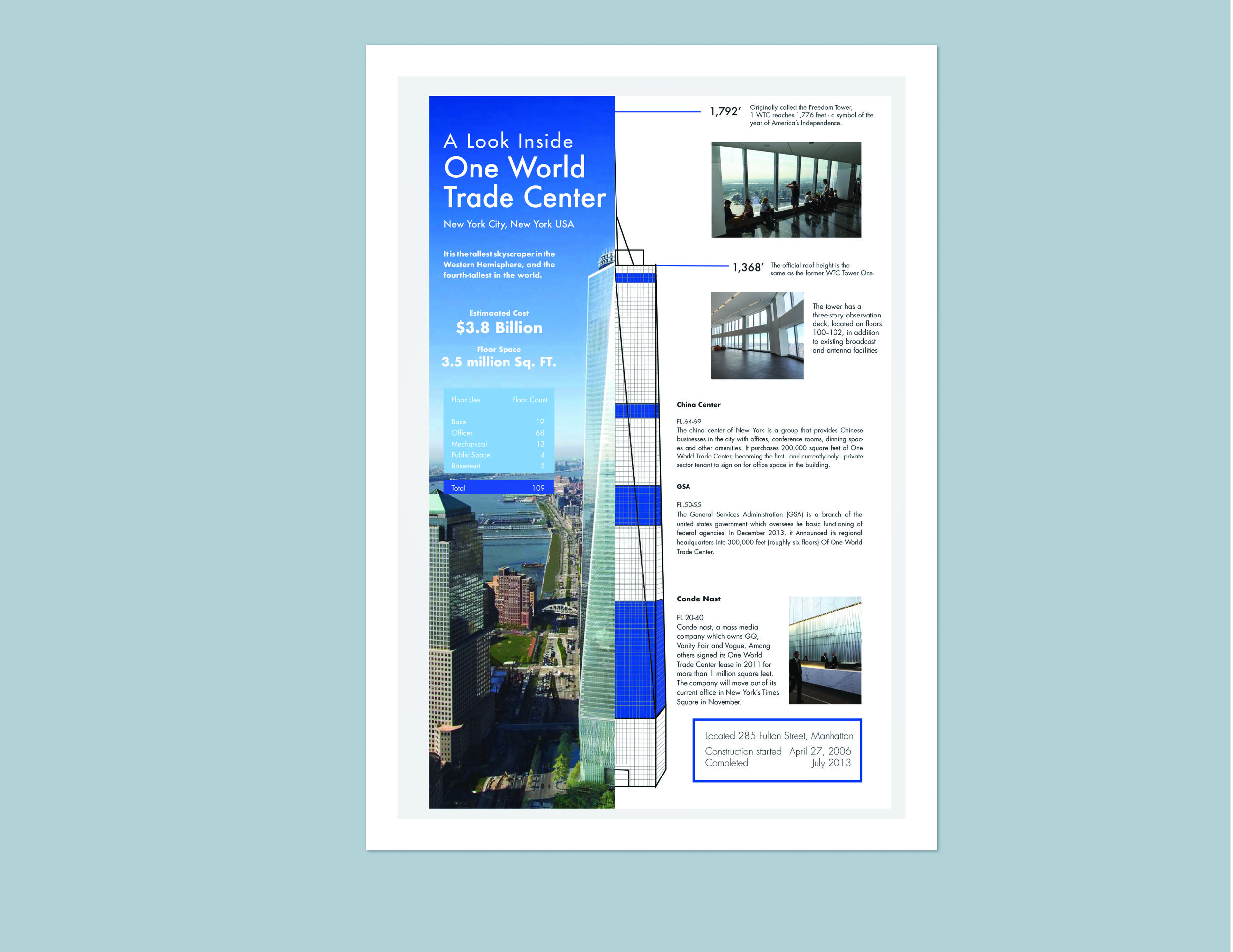 One World Trade Center Poster Miguel Morales Design