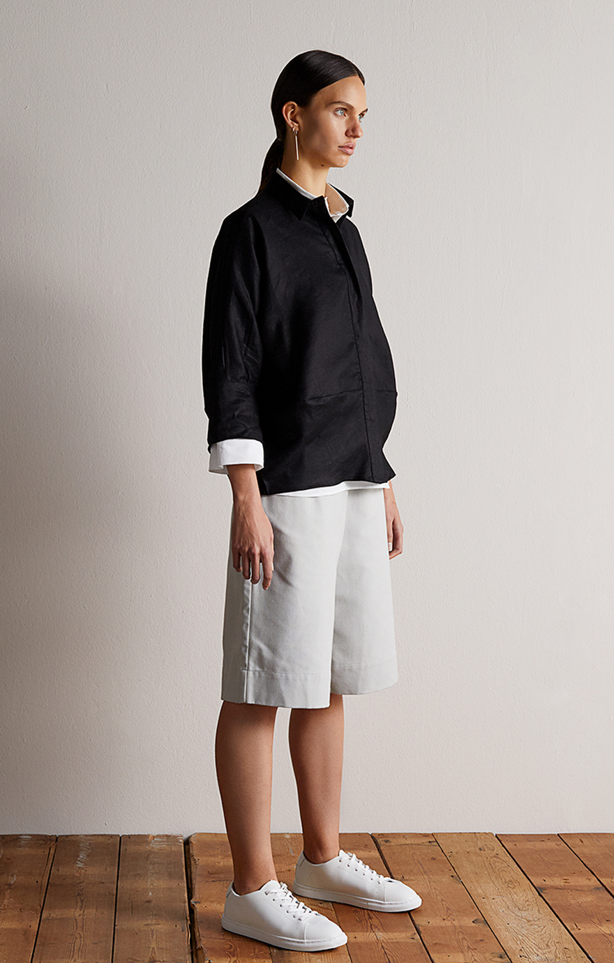 Take Care_Linen Cocoon Shirt