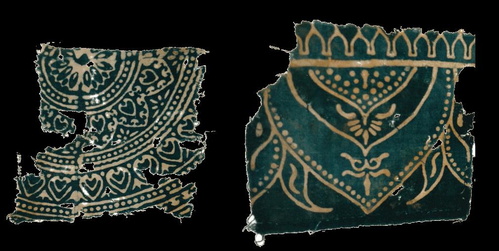 Block printed fabric found at Al Fustat. Source: Asmolean Museum