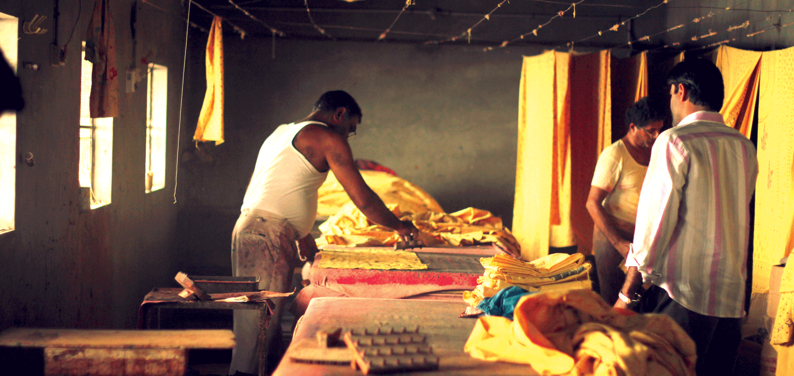 Printing with chemical dyes, Bhuj