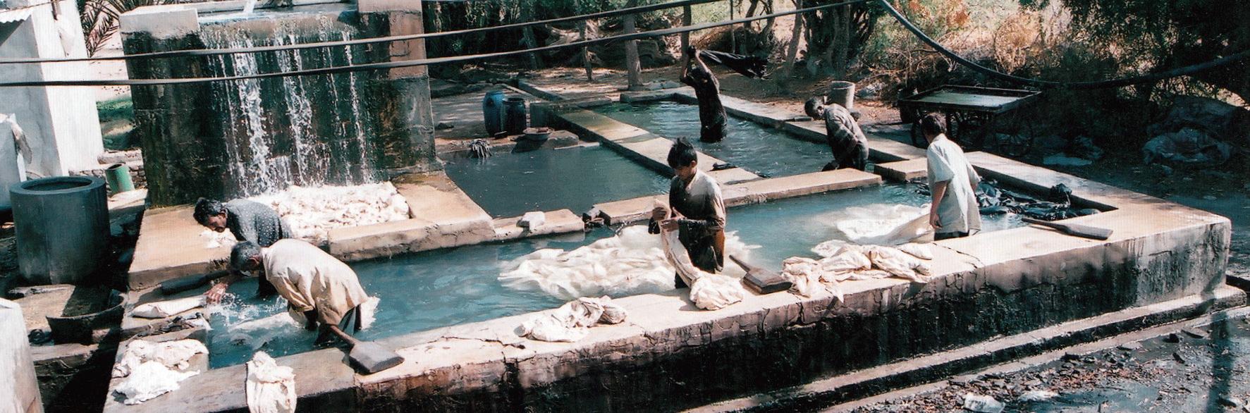 Washing at a farm in Dhamadka