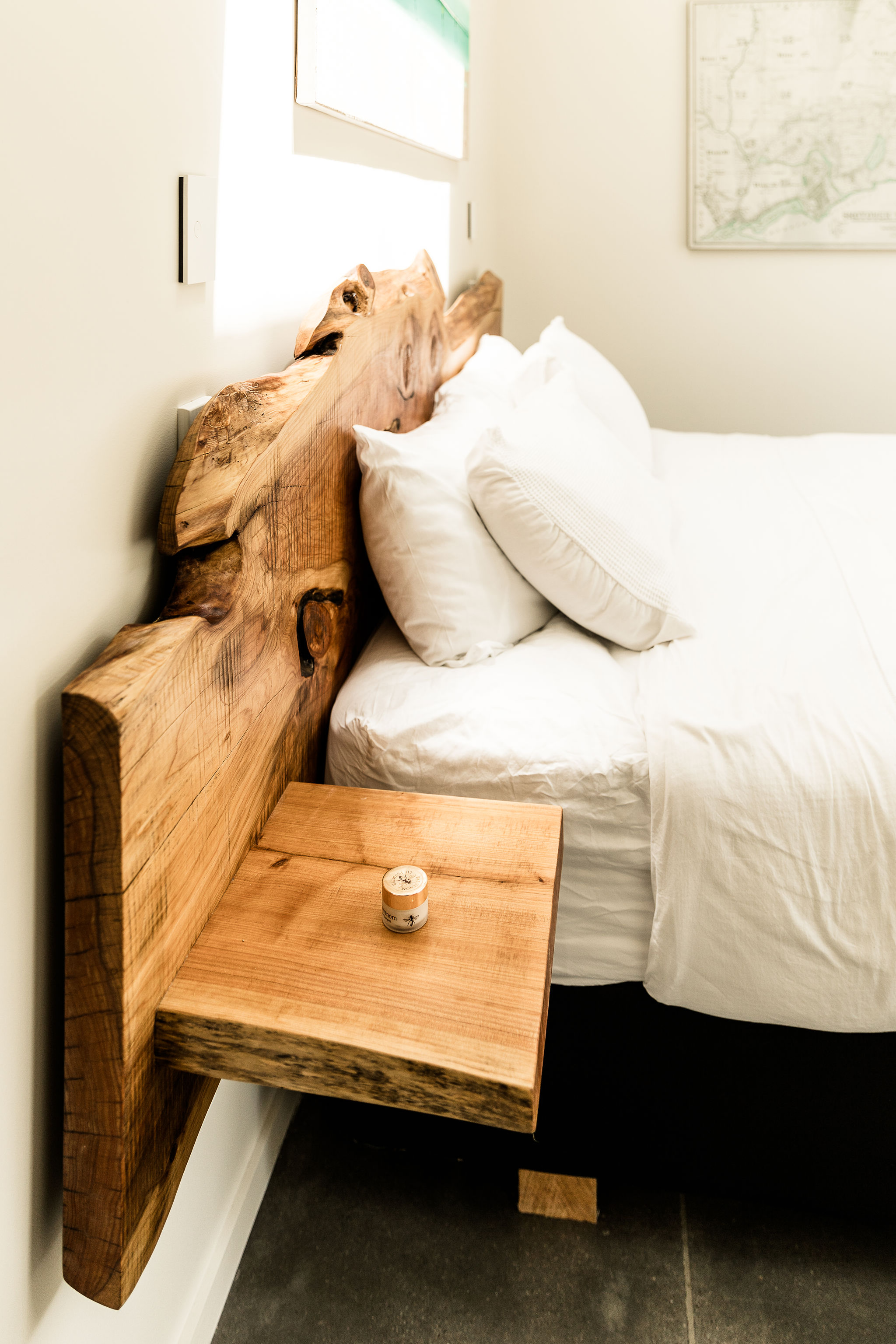 Rustic wooden bedheads