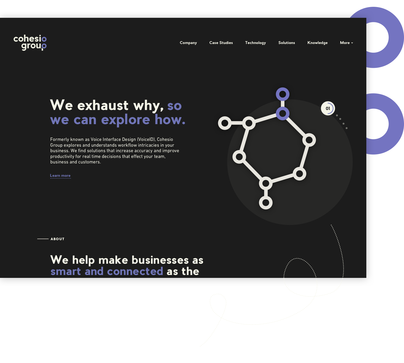 Freshly Launched — Cohesio Group - Introducing the new website for Cohesio Group, an innovative business that works in the technology solutions space within warehousing, supply & logistics and retail management. They leverage their passion for technology and solutions to help companies explore opportunities to better their workflows.