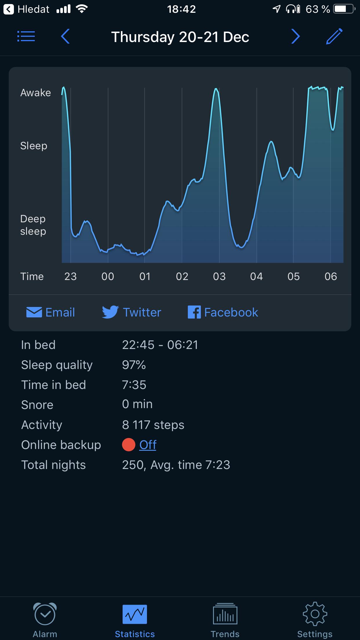 $Zaručení$ hekři Vám řeknou, že je to aplikace k ničemu. Měřím spánek několik let, spoustu gadgetů vyzkoušeno, úprava ložnice, stravy, celkově složení aktivit během dne, návštěvy spánkové laboratoře, učím se od nejlepších si vychytat předspánkovou rutinu. Hlavní výhoda je smart budík. Snaží se Tě vzbudit ve fázi, kde se probereš fresh. Znáte ten pocit? ps: celkově odměřeno přes jeden tisíc nocí. -