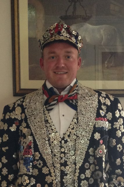 Lee the new Pearly King of St Pancras