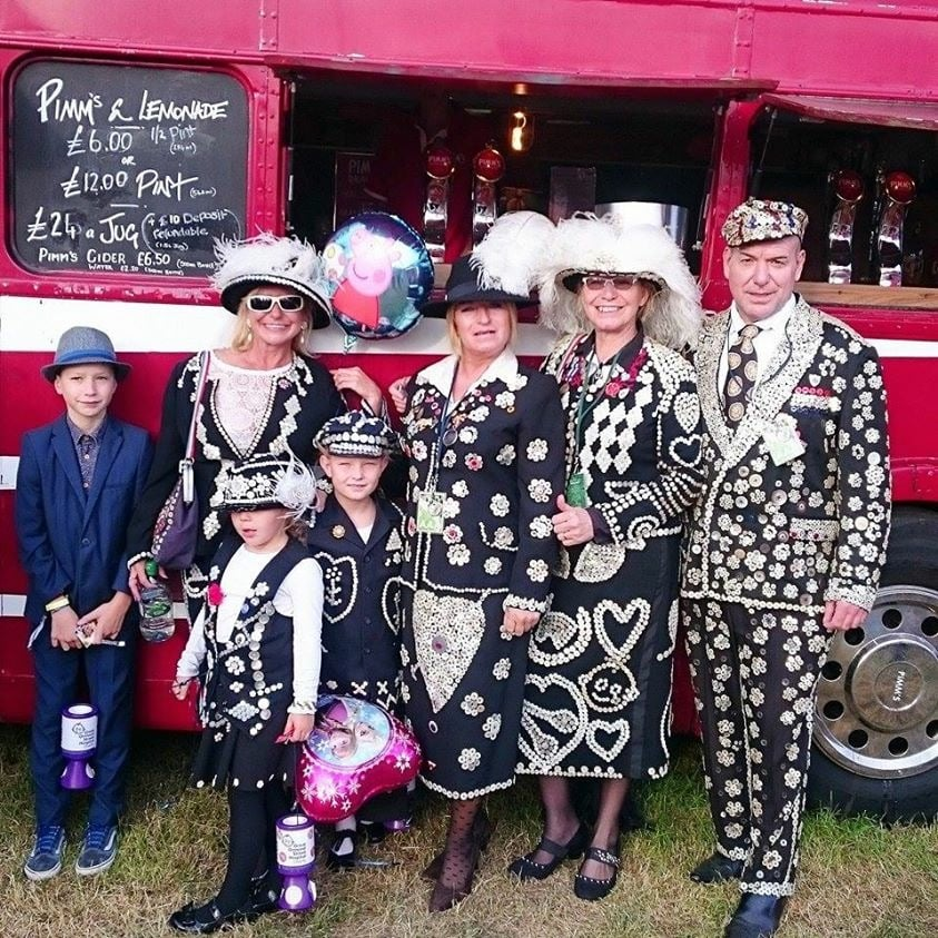 Pearlies at the Family fun day on Blackheath