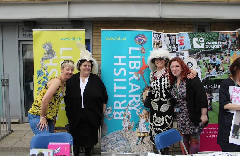 The fab stall with the lovely ladies from The British Library.
