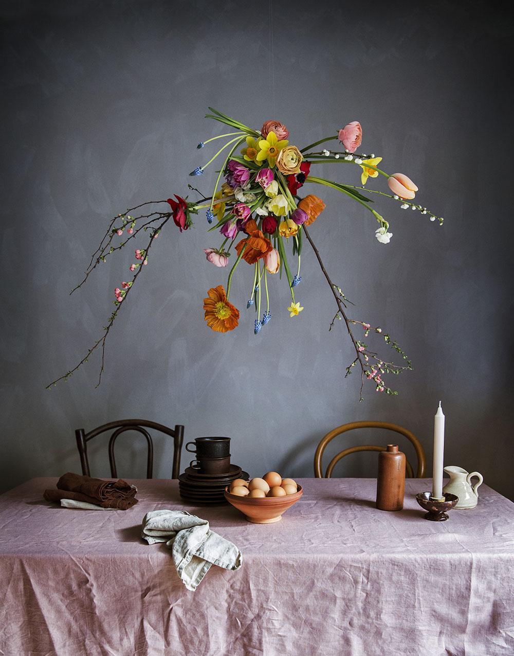 Styling för Leva&Bo/Expressen. Blommor: Nika Wahren. Foto: Pernilla Ahslén