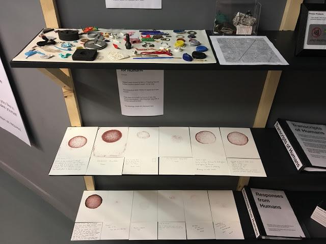 participant's artwork below Pete Ashton's  display