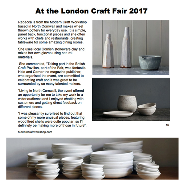 Emerging Potters - January 2018