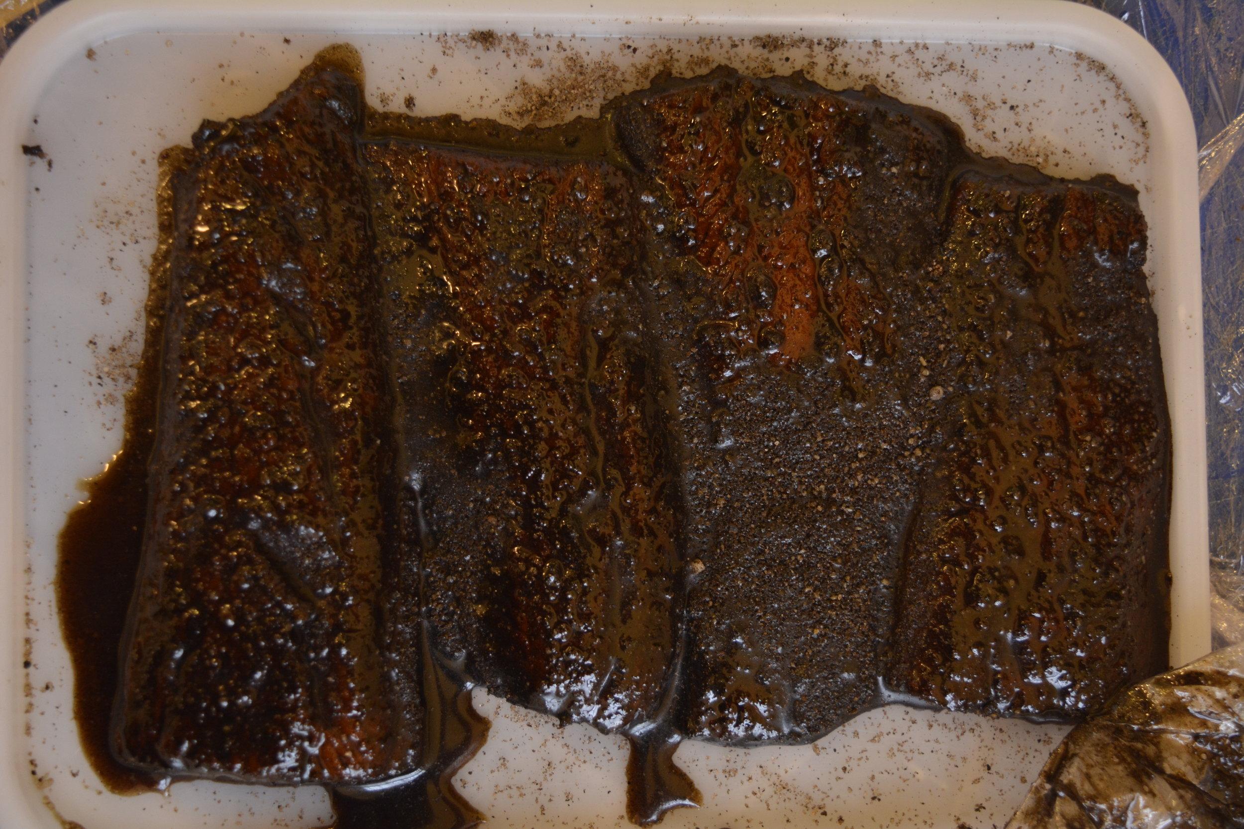 Experimenting with my own kelp-ash cure at the Edinburgh Food Studio (Orlando Addis)