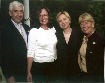 David, Marie, Senator Clinton and Congresswoman Carolyn McCarthy