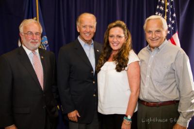 Congressman Tim Bishop, Vice President Joe Biden, Marie & Manny Arturi