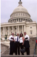 David, Manny, Marie and Vic Hadfield in front of the U.S. Capitol Building