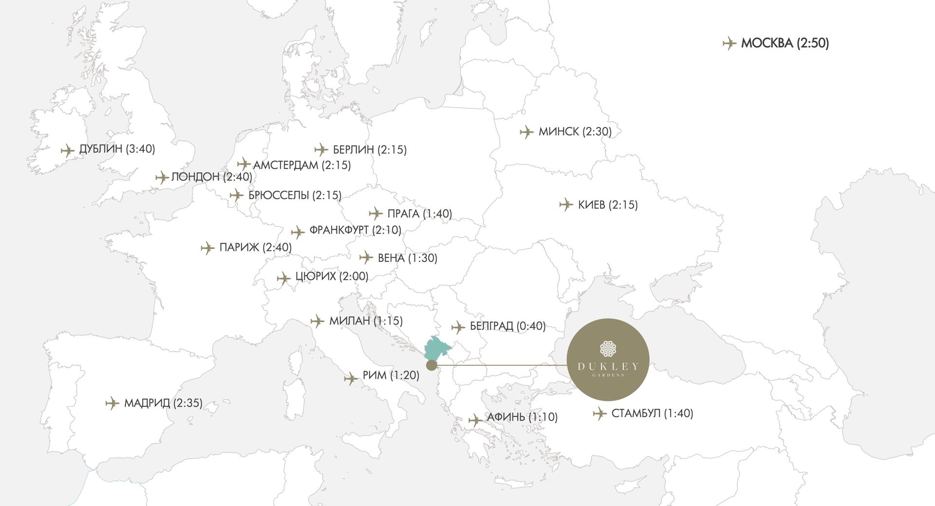 Подробная карта Черногории