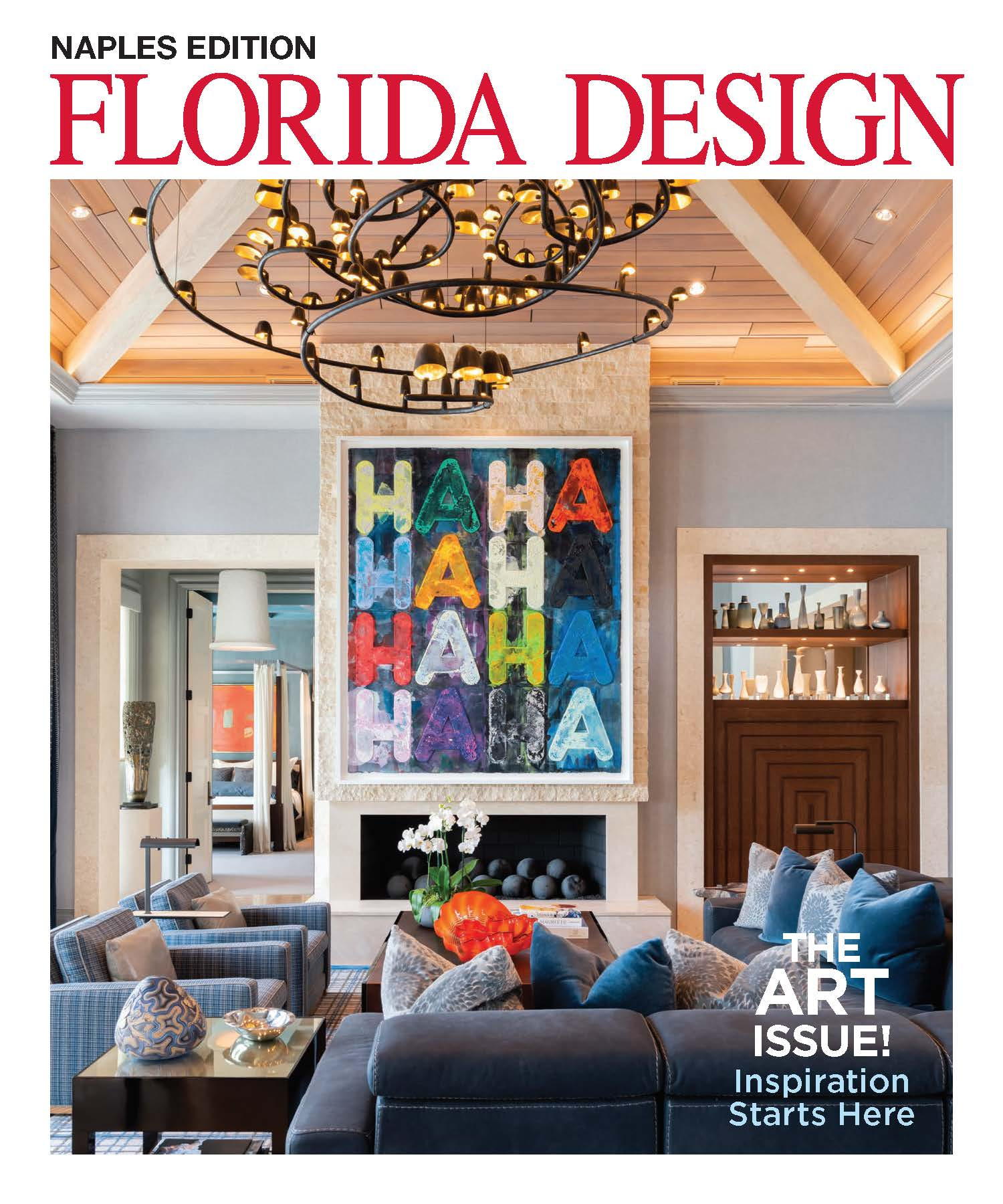 The Art Issue! - Interior Design: David Ostrander, Iluminus GroupArchitecture: Herscoe Hajjar ArchitectsBuilder: Toscana Homes