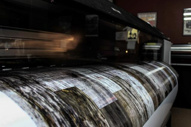 IMPLUS   graphics being printed