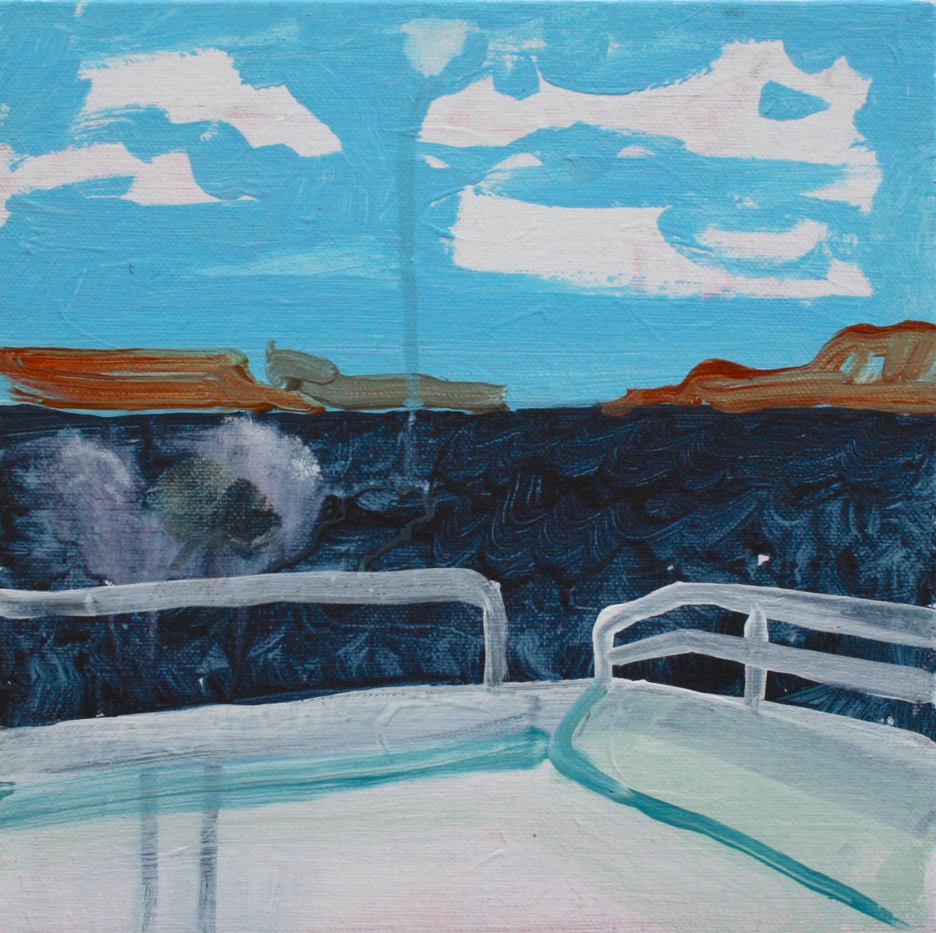 "Lake Powell Sketch / Acrylic on canvas, 2016, 12"" x 12""© 2014"
