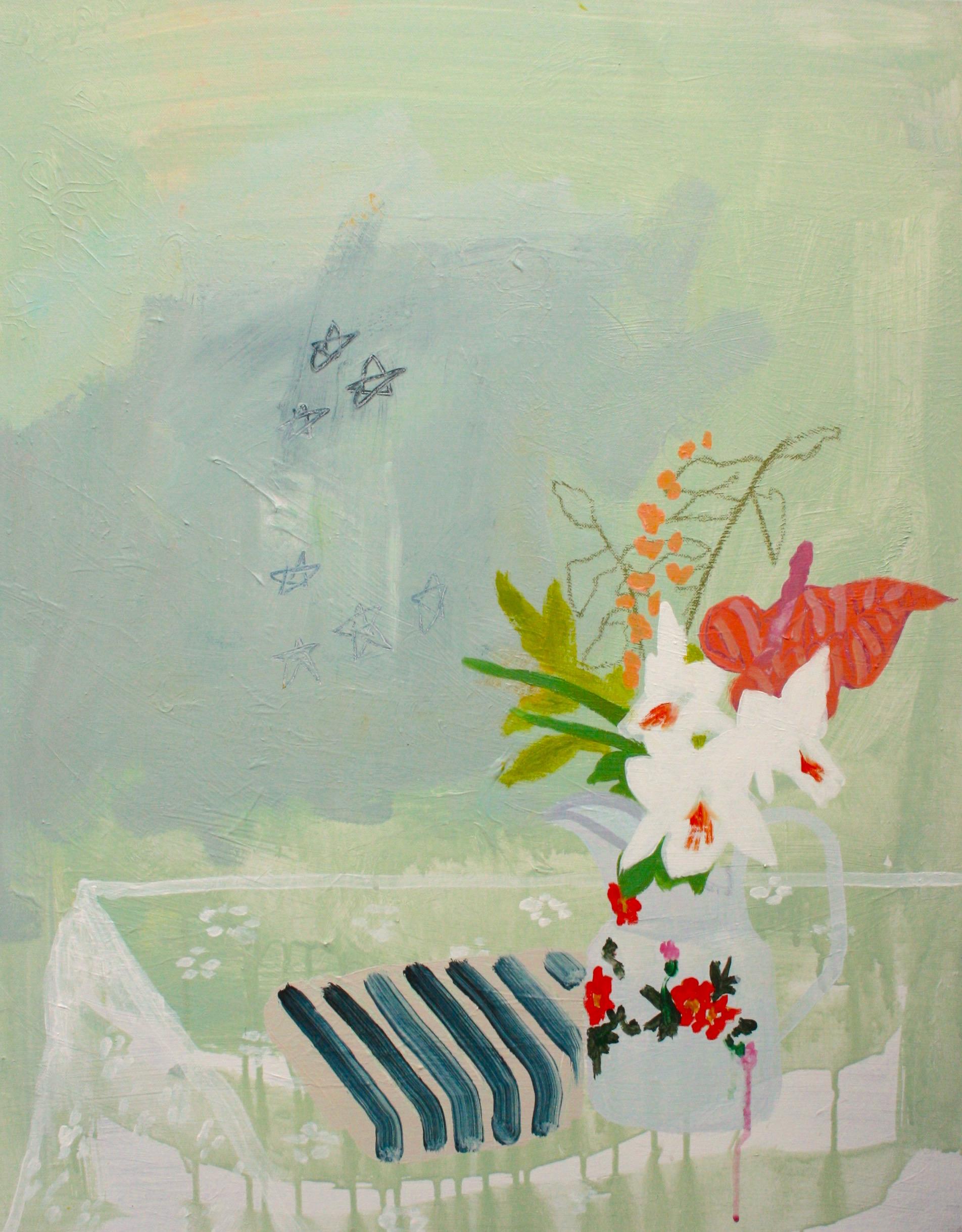 "Matisse ate the Honeycrisps  / 30"" x 24""© 2014"