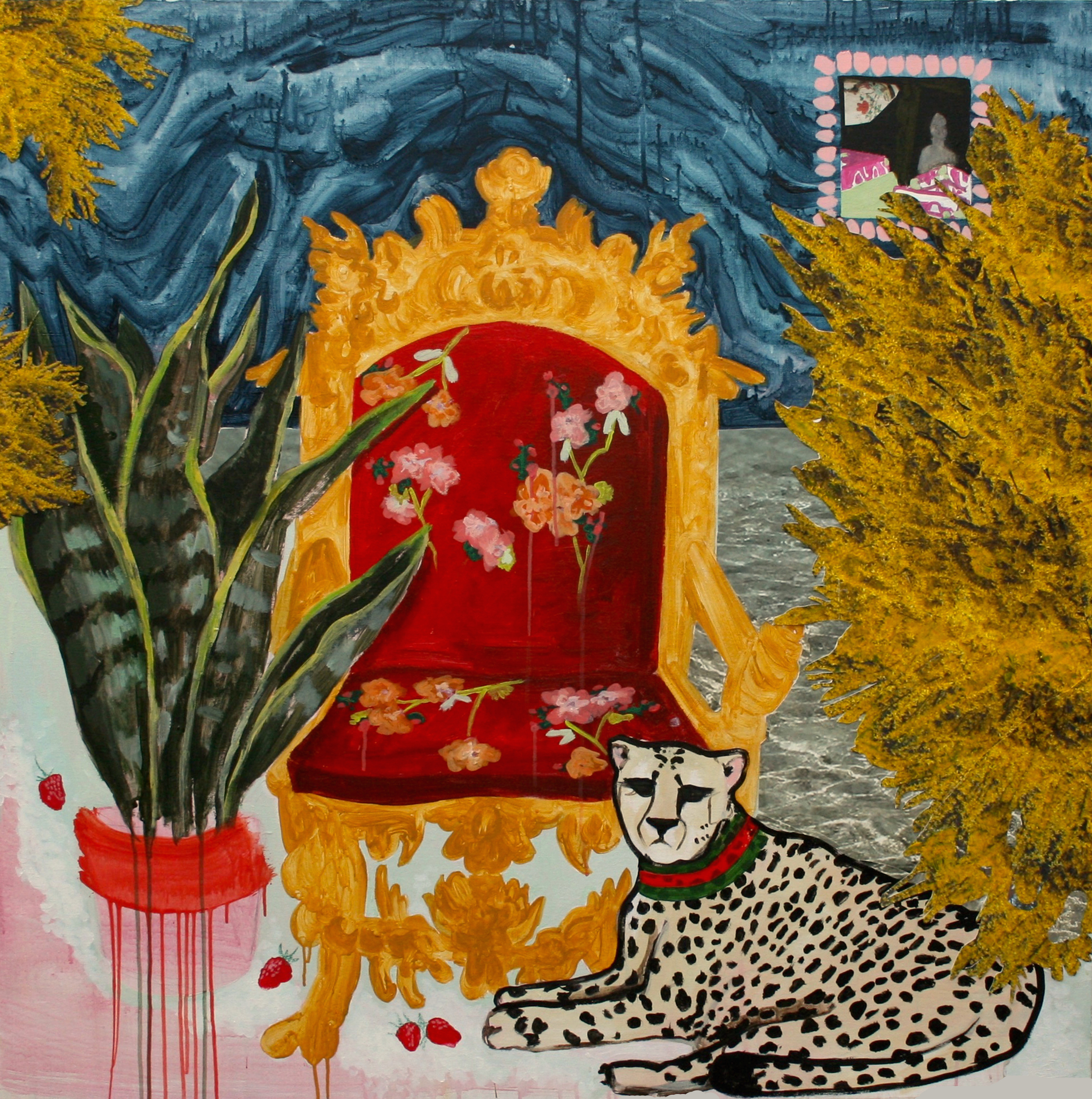 """Lana Del Rey is wearing Gucci on Harden Drive and don't forget to dip your strawberries in suga r / 48"""" x 48""""© 2014"""