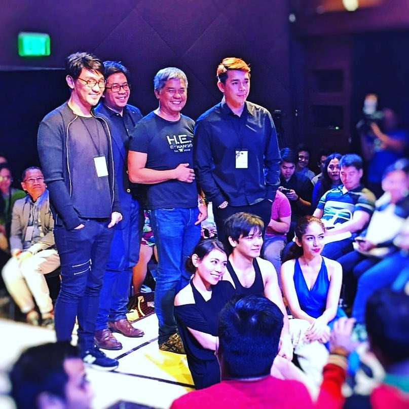 With Artist Playground's Artistic Director Roeder Camañag, Music Director Jesse Lucas, Playwright Rody Vera, Director Paul Jake Paule and the Cast of Happines is a Pearl - Cathrine Go, Tomas Miranda and Ira Ruzz