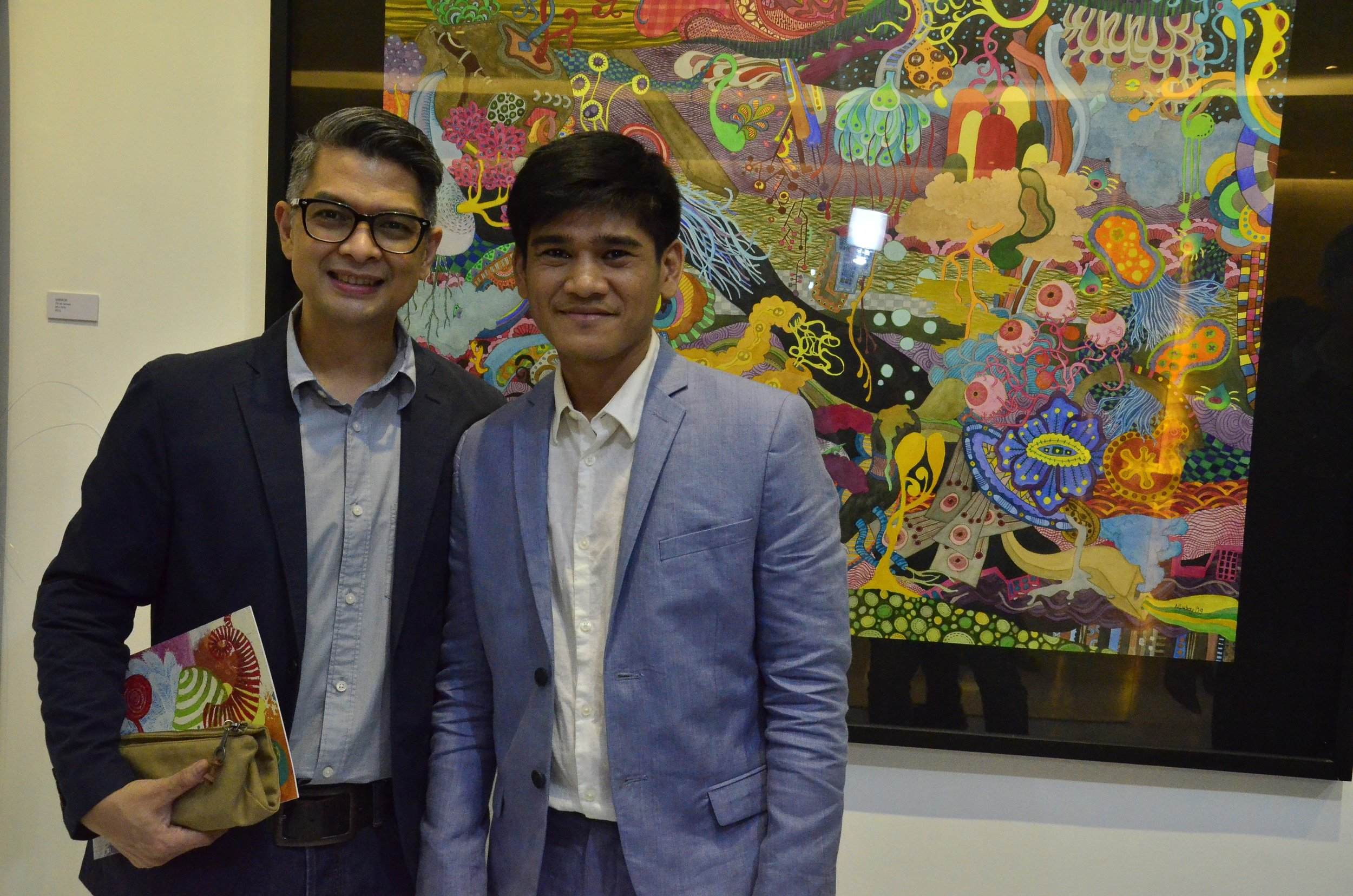 With Guest of Honor Albert Cuadrante of Greenwich Pizza Philippines