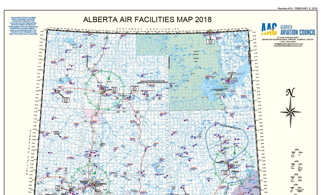 2018 Laminated Air Facilities Map