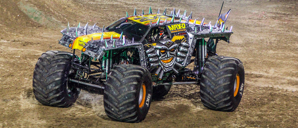 Tom Meents and Maximum Destruction at the 2016 Monster Jam World Finals