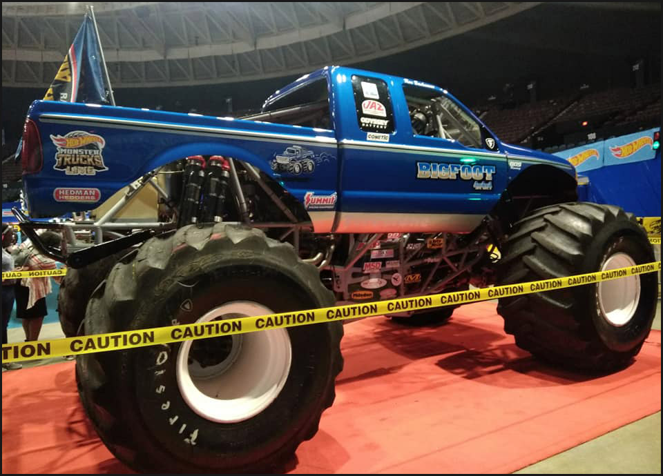 Darron Schnell debuted a brand-new Bigfoot body in Norfolk, one that looks similar in design to the Hot Wheels die-cast.