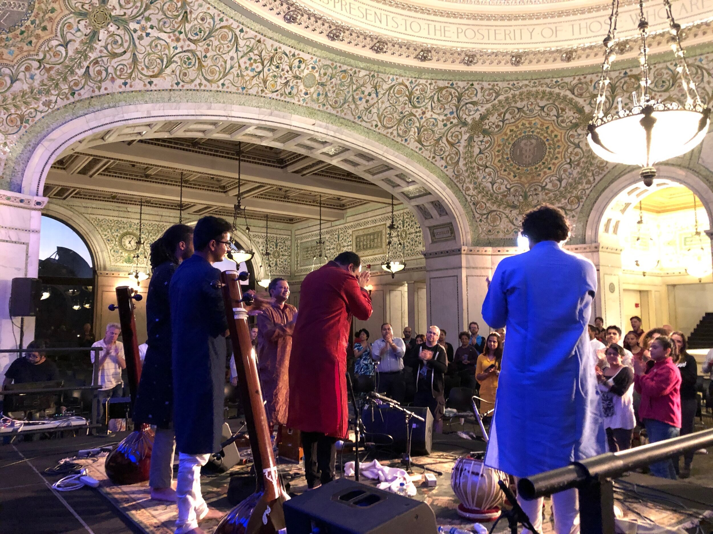 Responding to a standing ovation at the Ragamala World Music Festival, Chicago, Sept 2019