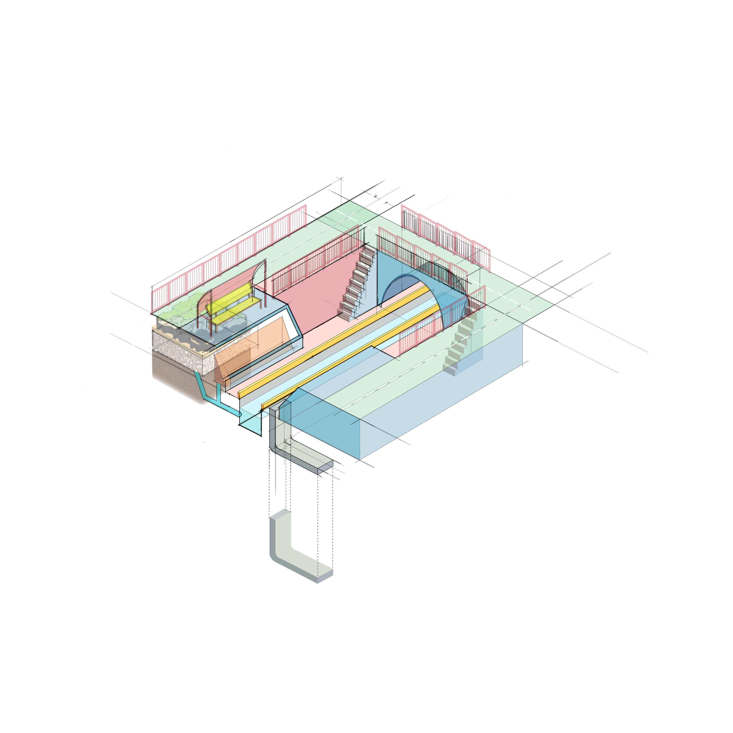 Eco-friendly architecture diagram step 2