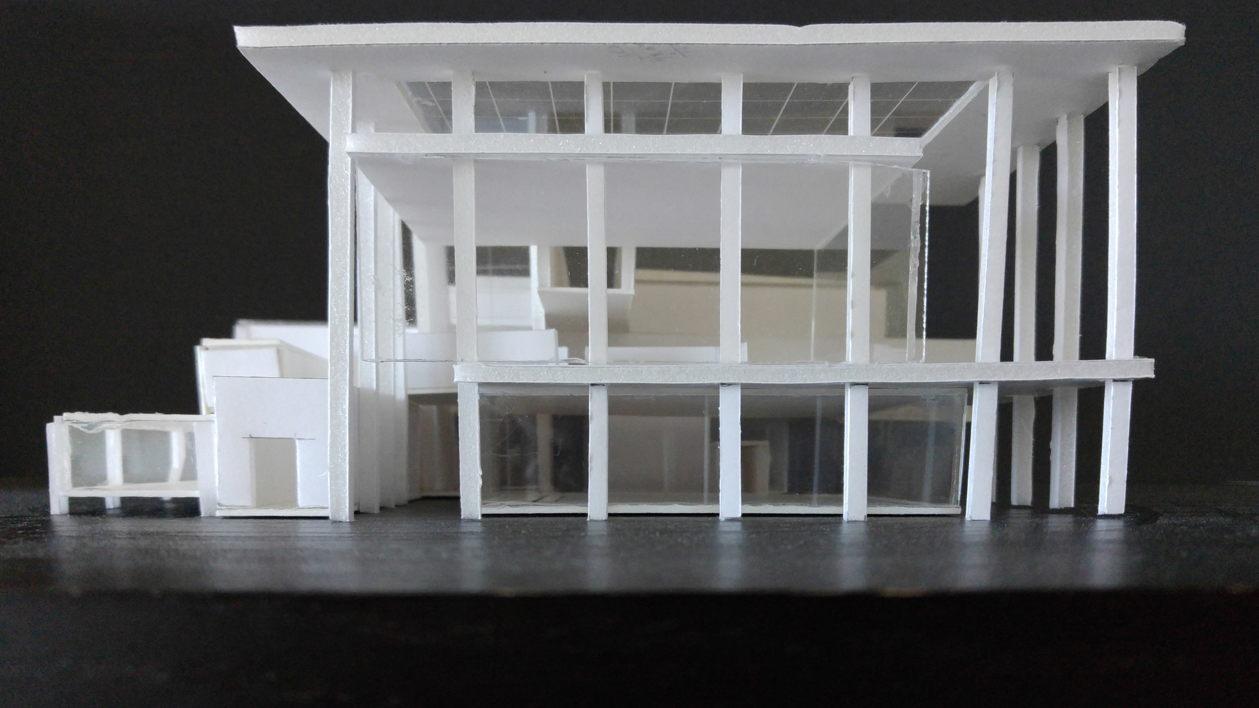 community center proposal massing model