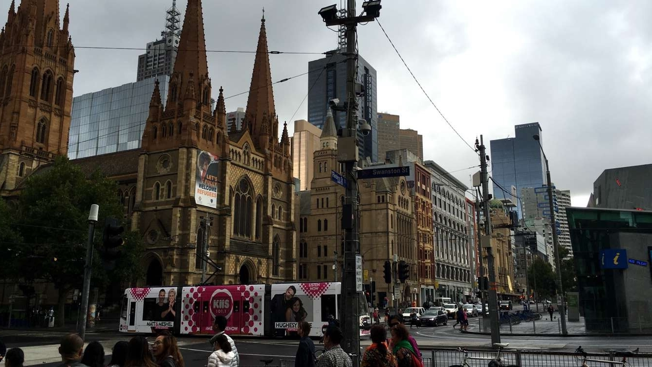 Outside of Flinders Street Station