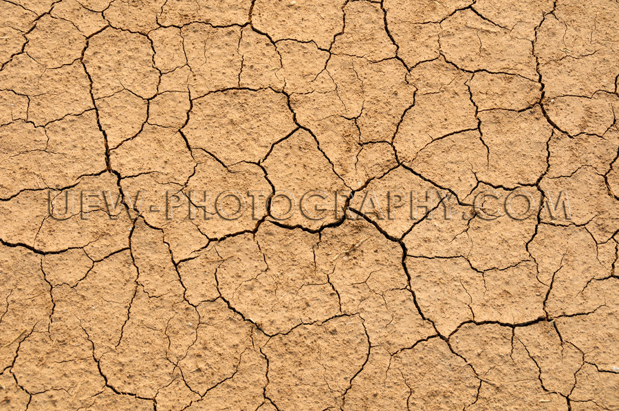 Cracked dry parched brown soil full frame background Stock Image