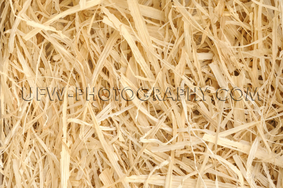Straw background, ecological packaging material natural detail -